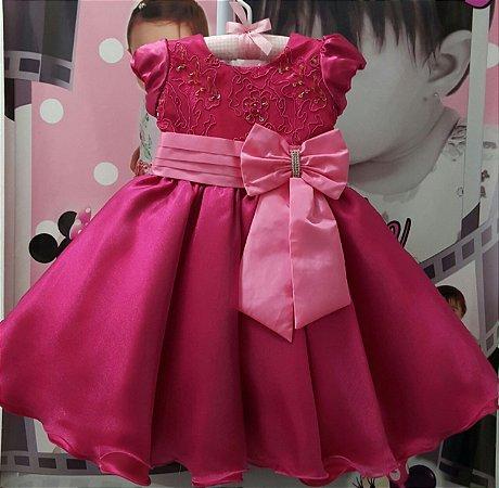 Vestido Infantil de Festa Barbie - tam 1 ao 3