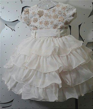 Vestido Infantil Festa Luxo - 1 ao 3