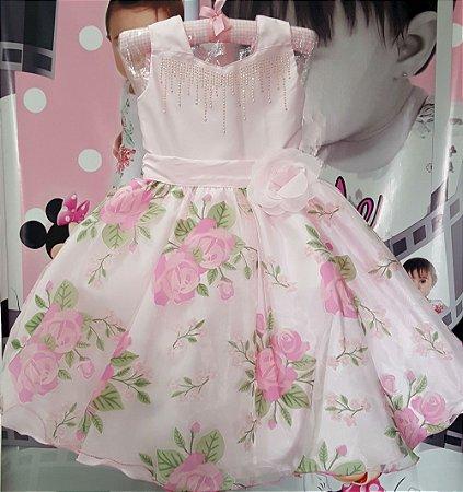 Vestido Infantil Floral Encantada Tam 4 ao 12