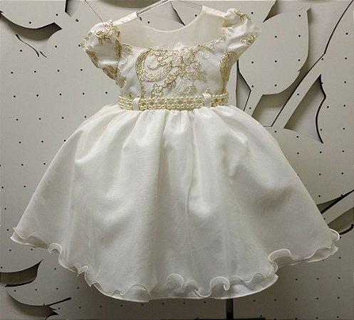 Vestido Infantil Princesa - tam 1 ao 3