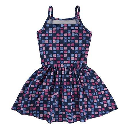 Vestido Estampado Com Detalhe Em Tela Pulla Bulla Tam 4 ao 10