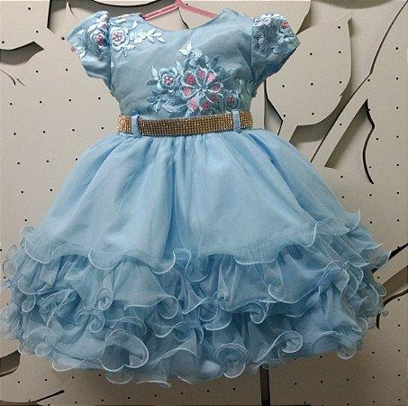 Vestido Infantil de festa Ta 1 ao 3