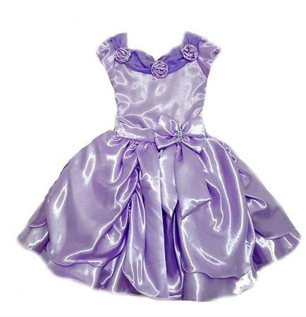 Vestido Infantil Princesa Sofia tam: 4 ao 6