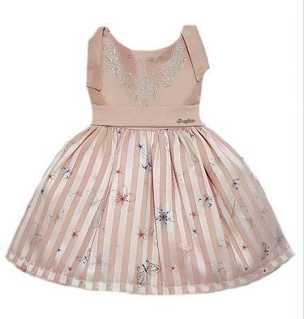 Vestido Infantil Pupila Nude Tam: 4 ao 6