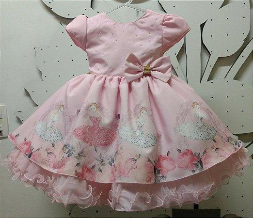 Vestido Infantil de Festa - tam 1 ao 3