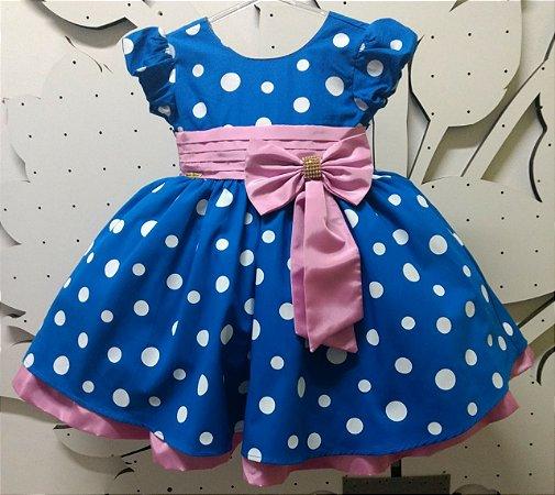 Vestido Infantil Galinha Pintadinha faixa rosa Tam 1 ao 3