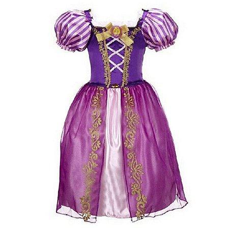 Vestido Infantil Rapunzel/Enrolados Tam 2 ao 8