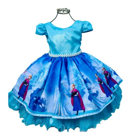 Vestido De Festa Infantil FROZEN 1 ao 3
