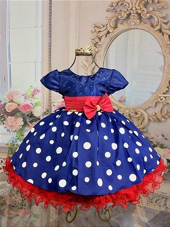 Vestido Galinha Pintadinha  Azul marinho 1774