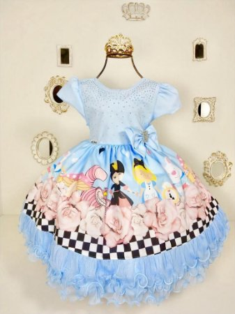 Vestido Infantil Alice No Pais das Maravilhas 1765