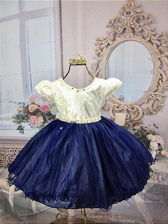 Vestido Azul luxo
