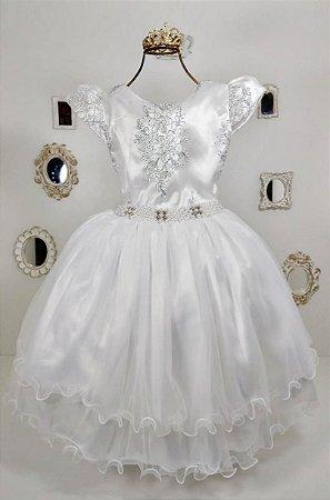 Vestido Branco de Luxo