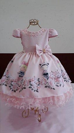Vestido Infantil Lol