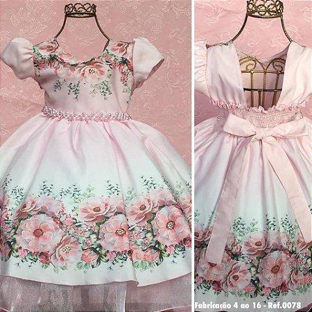 Vestido floral de luxo 1385