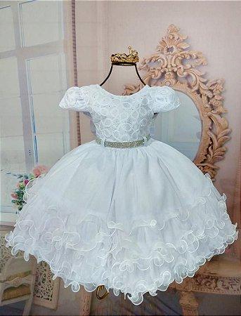 Vestido Branco  para batismo 1784