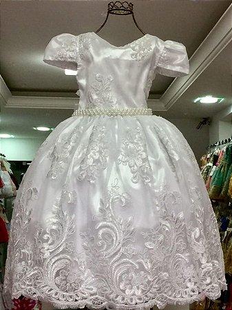 Vestido Branco Realeza 2186