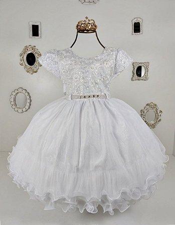 Vestido Branco de luxo 1723