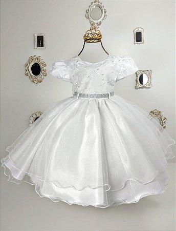 Vestido Branco de luxo 1745