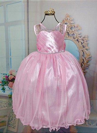 Vestido de princesa Rosa 335