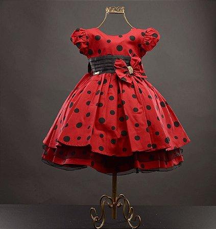 Vestido infantil da Minnie 1688