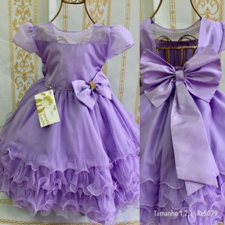 Vestido infantil Lilas 1426