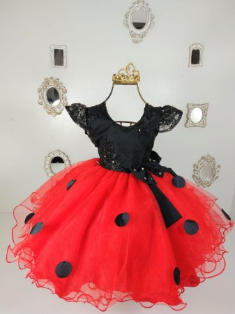 Vestido Minnie vermelha  ou Joaninha 81720