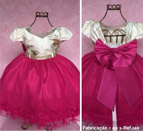 Vestido Pink e nude 1728