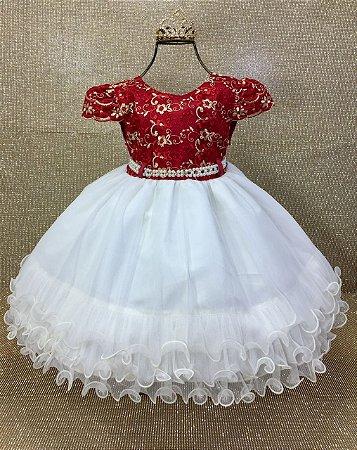 Vestido Vermelho e Nude 1757