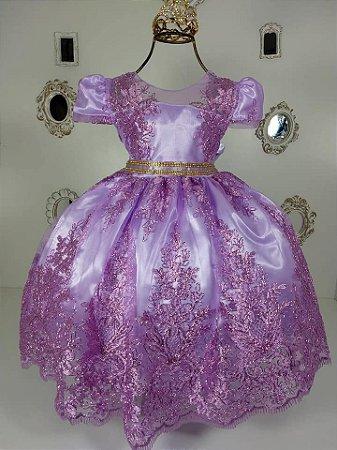 Vestido Renda Lilas 2192