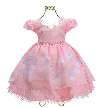 vestido Rosa Chuva de Amor 1682