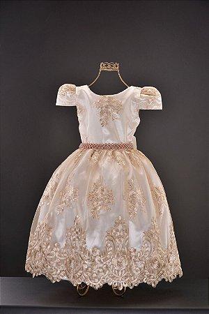 Vestido Realeza Nude 2134