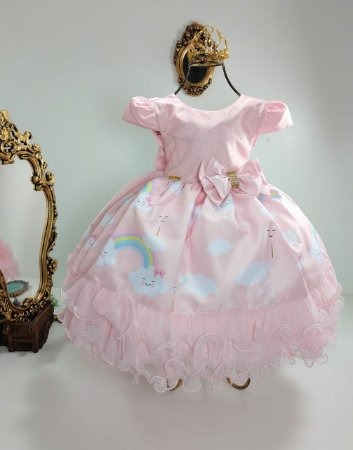 Vestido Infantil Chuva de Benção e Chuva de Amor 1706
