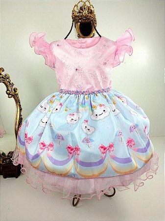 Vestido infantil Chuva de amor e benção 2076