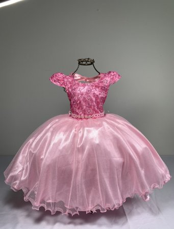Vestido Glitter Baby  Rosa 2140