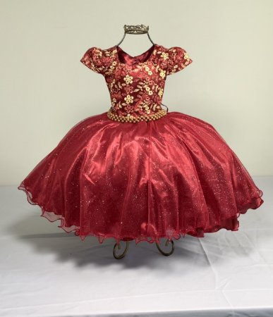 Vestido Glitter Baby Marsala 2140