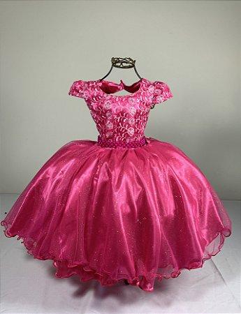 Vestido Glitter baby Pink  2140