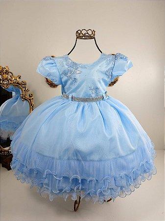 Vestido Infantil Azul Bebê 1805