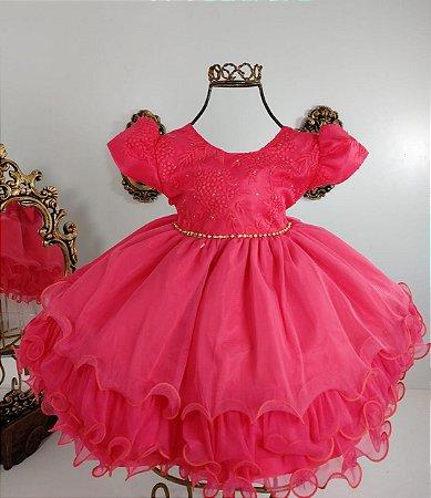 Vestido infantil Goiaba 1819