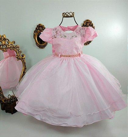 Vestido infantil Rosa Musseline 1735
