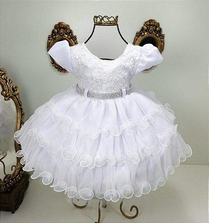 Vestido  branco com margaridas 1810