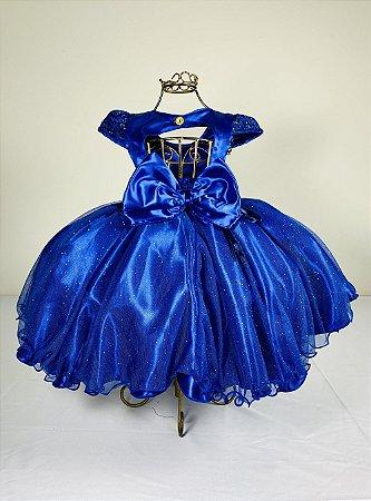 Vestido infantil Azul Royal 2070