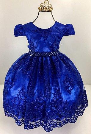 Vestido Realeza Azul Royal 2135