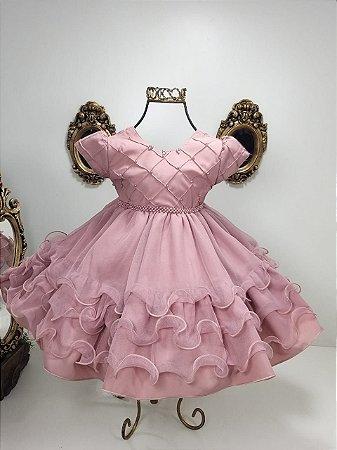 Vestido rosé 2534