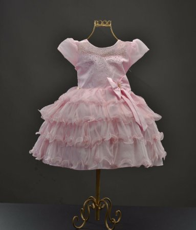 Vestido Rosa Princesa 1380