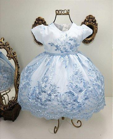 Vestido infantil Azul princesa 2446