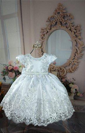 Vestido Realeza Branco 1922
