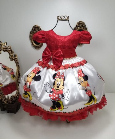 Vestido Minnie Vermelha 325