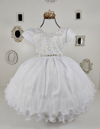 Vestido  branco com margaridas 1854
