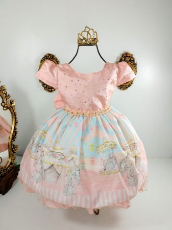 Vestido Infantil Circo Rosé 2071