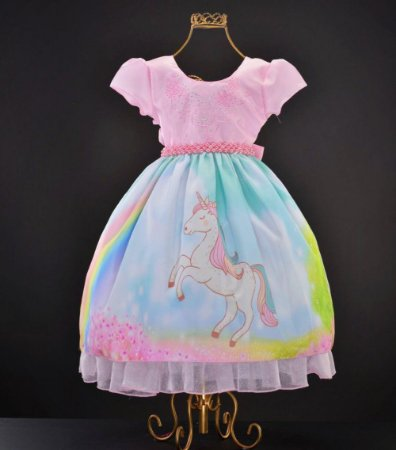 Vestido infantil unicórnio 1381